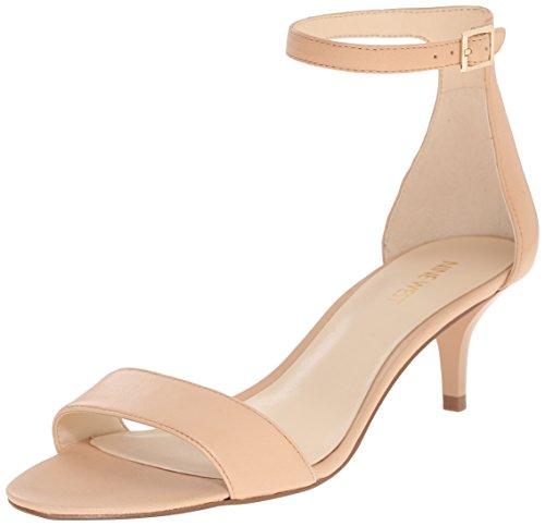 Nine West Damen Leisa Leather Sandalen, Naturleder, 37 EU - Nine West Ankle Strap Sandalen