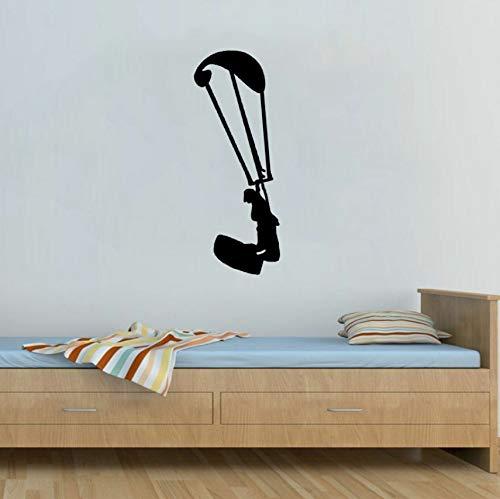 (Fallschirm Extreme Bewegung Küche und Fitnessstudio Wandaufkleber Pvc personalisierte 25x63cm)