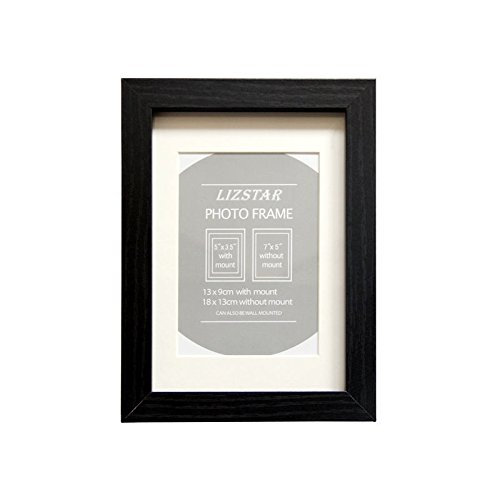 Liz Star caja de madera Frames Fondo en negro/blanco/roble con paspartú para...
