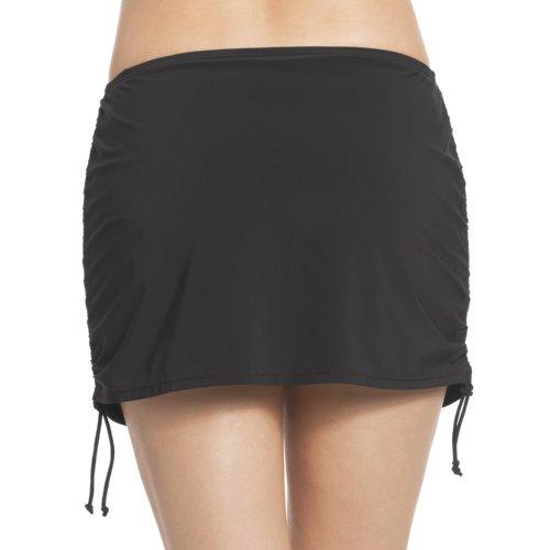 Rosa Faia Damen Rock Bikinihose Bikini-Rock Kim Bottom Schwarz (Schwarz)