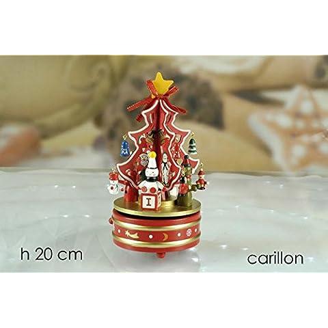 Carillon Giostra Con Albero 20 Cm Addobbi Natalizi Natale Arredo Gt 937379