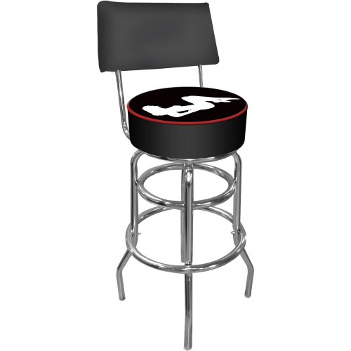 Shadow Babes - A Series - High Grade Padded Bar Stool w/Back -