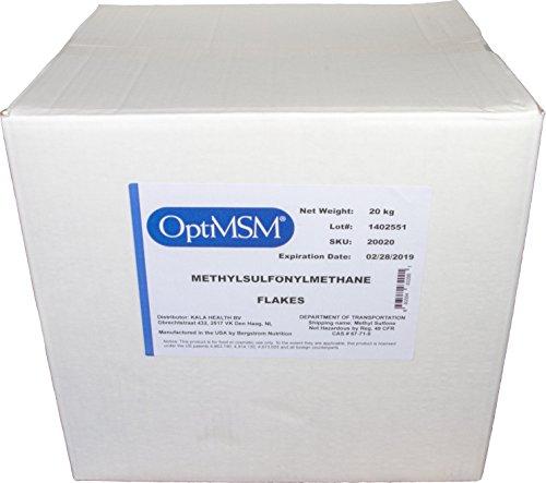 """Kala Health – OptiMSM® (Methylsulfonylmethan) grobes Pulver (""""Coarse Flakes"""") 20 KG, reines MSM, Nahrungsergänzungsmittel hergestellt in den Vereinigten Staaten"""