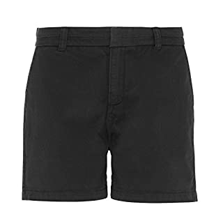 Asquith & Fox Asquith and Fox Women's Chino Shorts Black 000, 8 (Size:XS)