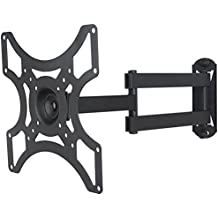 """Soporte de pared para TV / monitor de un brazo en negro extensible de 5,4cm a 38,2cm orientable inclinable 12° para ViewSonic 24"""" VX2452mh"""