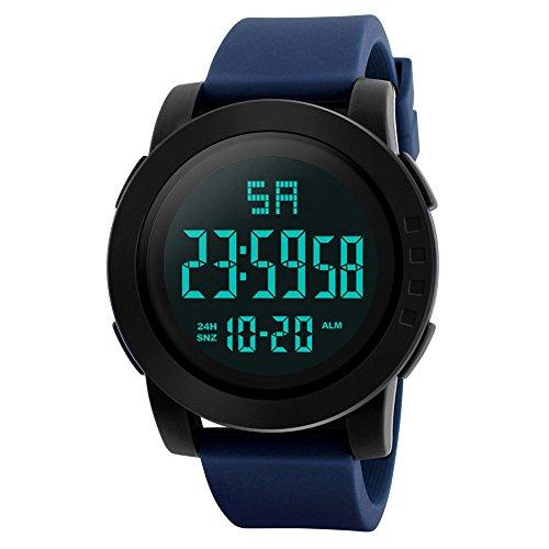 IG-Invictus Männer Analog Digital Military Armee Sport LED wasserdichte Armbanduhr HONHX Elektronische Uhr 5004-653 Blau