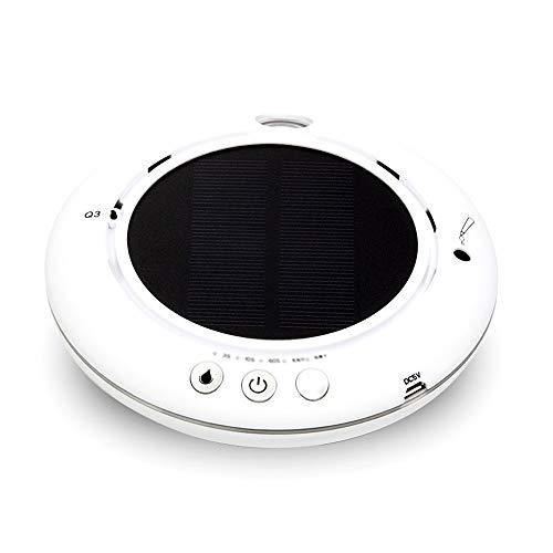 SXMAN Purificateur d'air De La Voiture Purificateur D'humidification Solaire Intelligent pour Purifier L'odeur,White