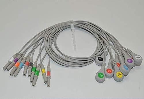 10ECG/EKG Kabel für J. Holter Patienten führen Monitor Kabel führen Snap kompatibel - Führen Ekg-kabel