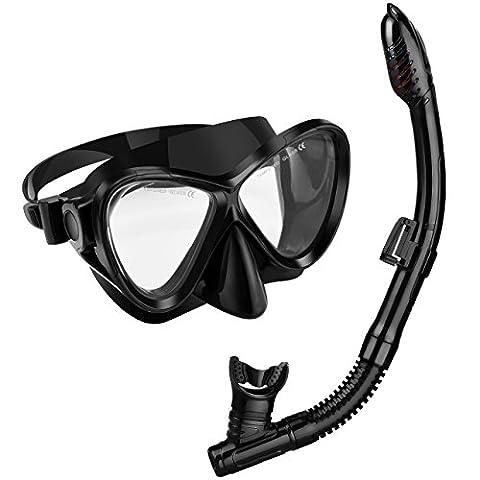 Snorkel Set, OMorc Premium Adult Snorkel Set with 100% Waterproof