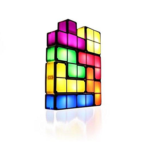 Tetris Leuchte Tischlampe das Gamer Geschenk 7 Tetriminos frei kombinierbar Kunststoff - 2