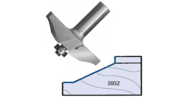 Whiteside Router Bits 5952 25-Degree Straight Raised Panel Bit with 2-1//2-Inch Large Diameter and 5//8-Inch Cutting Length