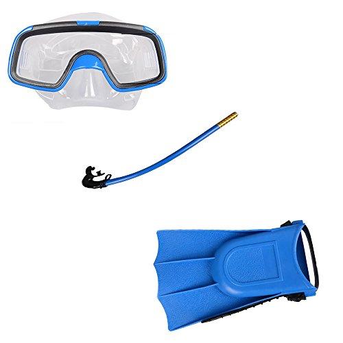 ZAMAC La natación Snorkeling Traje de tres piezas de los niños Gafas de natación gafas de natación tubo de respiración, azul