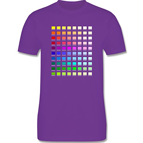 Nerds & Geeks - Farbtabelle - HEX - Herren Premium T-Shirt Lila