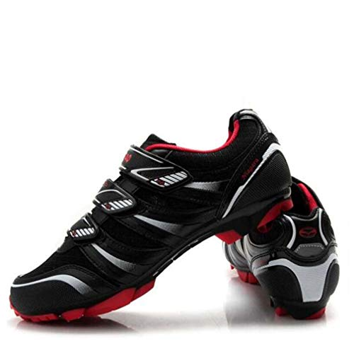 LHY RIDING Scarpe da Ciclismo Uomo MTB Scarpe da Ciclismo Cycling Breathable Dynamic (39-47 Size),Black,47