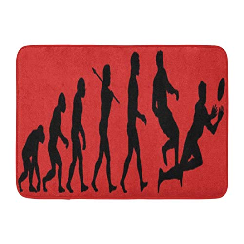 aveman Rugby Evolution Sports Evolve Hobbies Spiel Darwin Bathroom Decor Rug ()