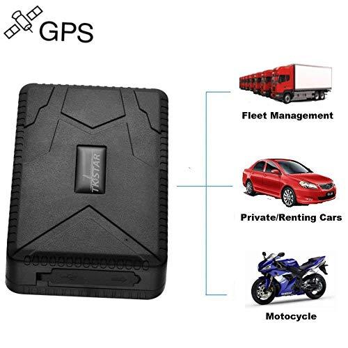 TKSTAR GPS Tracker tracking in Tempo Reale 4 Mese Pausa -GSM, SIM, SMS GPS Localizzatore Tracciatore di Posizione Antifurto per Auto/ Veicoli/ Moto Camion con Magnete Batteria TK915