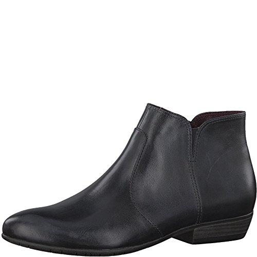 Tamaris Damen Stiefelette 25398-21,Frauen Stiefel,Boot,Halbstiefel,Damenstiefelette,Bootie,Reißverschluss,Blockabsatz 2.5cm,Navy,EU 38 (Stiefel Cowboy Leder Damen)