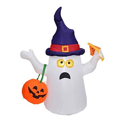 Scary Halloween Kostüm Schneemann - WMWHALE Halloween Aufblasbare Dekoration 1.5M Blow