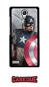 Caseque Tero Captain America Back Shell Case Cover For Xiaomi Redmi Note