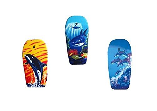 EXPLORER Bodyboard 94x47x5cm Schwimmboard Board Surf Wal Hai Orca Delfin mit Halteleine und Klett Surfboard Schwimmbrett Strand Wasser Sommer Wellen Wellenreiten