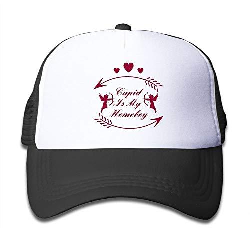 Kids Cupid is My Homeboy Cartoon Boys Sun Hat Adjustable Baseball Trucker Caps - Homeboy Cap