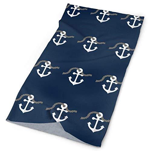 Ocean Nautical Pirate Sea Sailor Anchors Headwrap Unisex Headwear Headband Neck Scarf Polyester Do Rag Cap Magic Head Scarf Bandana Travel Headdress Face Mask Neck Gaiter