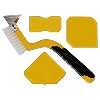 Thorani | Herramienta de ranurado | Juego completo: cepillo para juntas con rascador de juntas y masilla | Ideal para baño, cocina, instalaciones sanitarias