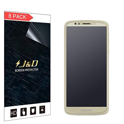 J&D Kompatibel für 8er Packung Moto E5 Displayschutzfolie, [Antireflektierend] [Anti Fingerabdruck] [Nicht Ganze Deckung] Hochwertige Matte Folie Schutzschild Displayschutzfolie für Motorola Moto E5
