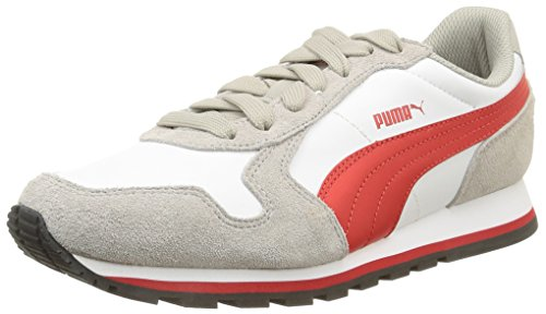 Puma Jungen St Runner L Laufschuhe Drizzle/White/High Risk Red