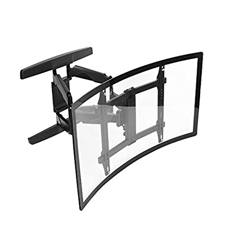 Intecbrackets® - Curved screen cantilever swivel and tilt TV wall bracket designed specially for curved screen TVs 40