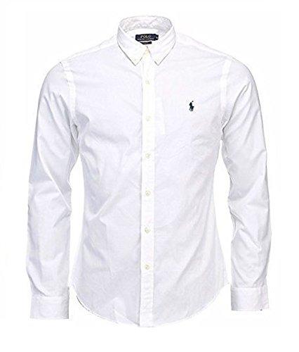 Ralph Lauren -  Camicia Casual  -  Vestito modellante  - Basic - Con bottoni  - Uomo White X-Large