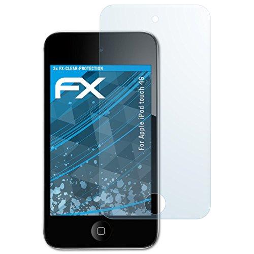 Apple iPod touch 4G Schutzfolie - 3 x atFoliX FX-Clear kristallklare Folie Displayschutzfolie
