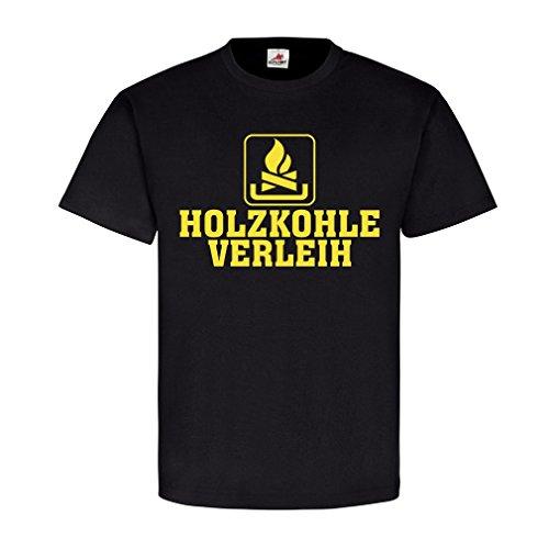 Copytec Holzkohle Verleih Humor Kaminholz Brennstoff heizen Spaß verleihen Fun #22642, Größe:XXL, Farbe:Schwarz