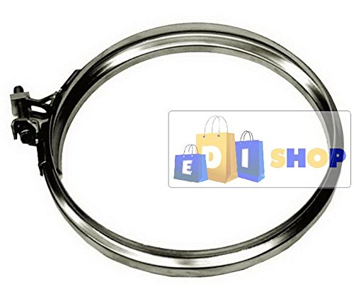 CHEMINEE PAROI SIMPLE TUYAU TUBE INOXIDABLE AISI 316 - dn 150 fascetta di bloccaggio canna fumaria tubo acciaio inox 316 parete semplice