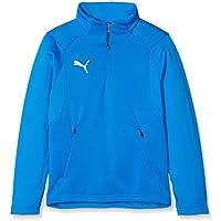 Puma Liga Polar Entrenamiento Sudadera, Todo el año, Infantil, Color Electric Blue Lemonade/Puma White, tamaño 152
