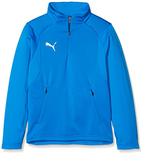 Puma Kinder Liga Training Fleece Jr Pullover, Electric Blue Lemonade White, 164 Preisvergleich