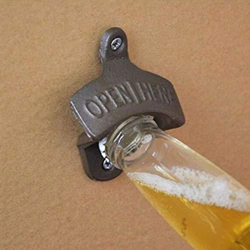faway Gusseisen Wand montiert Flaschenöffner Antik Bar Club Wein Bier Opening Tool Bronze dunkel -