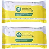 Eco Hygiene Large Skin Antiseptic Bed Bath Wipes With Aloe Vera and Vitamin E 24X30 CM (Pace of 2)