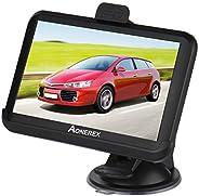 Aonerex Navigation für Auto LKW PKW KFZ 5 Zoll Touchscreen GPS Navi 8 GB 256 MB Navigationsgerät mit Neueste E