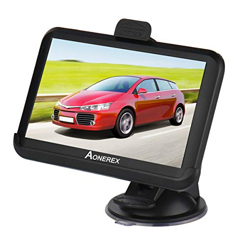 GPS Navi Navigation 5 Zoll Touchscreen 8GB 256MB Aonerex Navigationssystem Lebenslang Kostenloses Kartenupdate das Navigationsgerät Neueste 52 Karten Europa für Auto LKW PKW KFZ - Audio-gps-system Auto Für