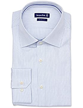 JACQUES BRITT Herren Hemd Paspel City Hemd Slim Fit Blue Label 174030-17 fein kariert Größen: 39 40 41 42