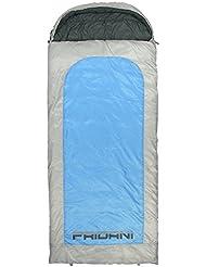 Fridani BB 235S XXL Camping Schlafsack bis -22°C Outdoor Deckenschlafsack 235x100 cm, Hüttenschlafsack mit 2700 g für 3 / 4 Jahreszeiten Frühling Sommer Herbst