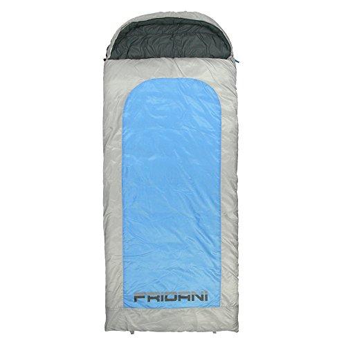 Fridani Schlafsack BB 235 x 110 cm XXL Deckenschlafsack Blau -22°C warm wasserabweisend waschbar