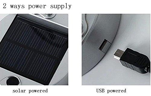 Lampada da tavolo a energia solare dinowin usb batteria portatile