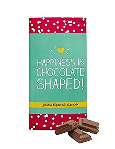 Happy Jackson Happiness is Chocolate Shaped Milk Chocolate Bar 100 g (Pack of 3)