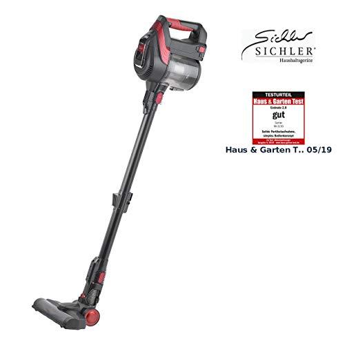 Sichler Haushaltsgeräte Akkusauger: 2in1-Akku-Zyklon-Staubsauger mit elektrischer Bürste, 120 Watt, 21,9 V (Accustaubsauger)