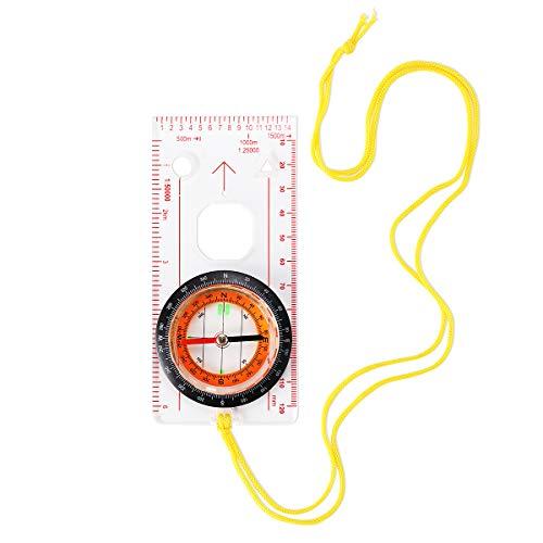 Kompass Taschenkompass Navigation Militär Marschkompass mit Klinometer und Tragschlaufe für Survival, Orientierung, Mehrfunktional wasserdicht Compass für Camping Wandern Outdoor-Aktivitäten