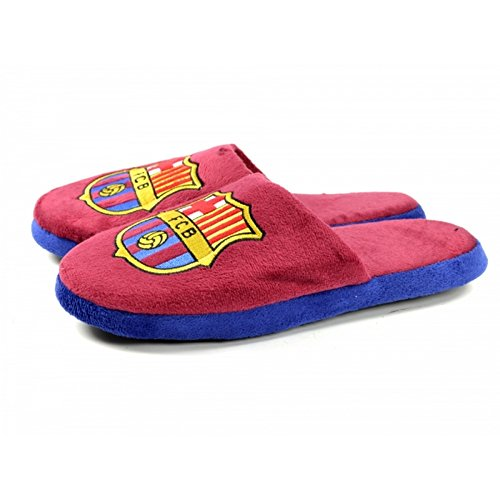FCB FC Barcelona - Pantofole Ufficiali a Due Colori Bordeaux/Blu