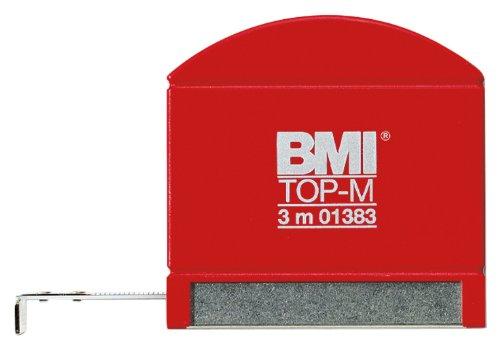BMI 406341010 Taschenbandmaß Top M mit Innenmessung, Länge 3 m, weisslackiertes Band