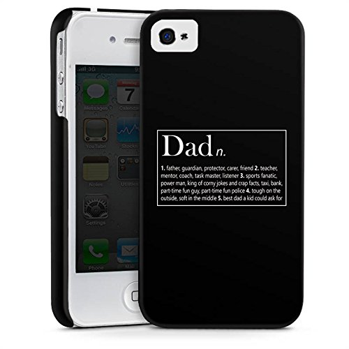 Apple iPhone X Silikon Hülle Case Schutzhülle Dad Papa Vater Vatertag Premium Case glänzend